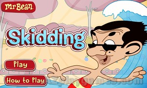 Play Skidding With Mr. Bean